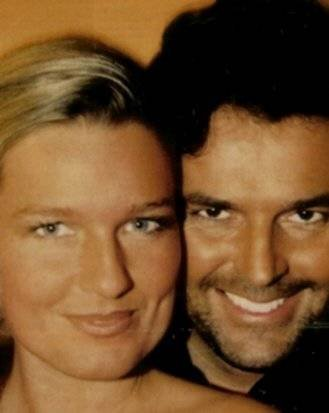 Thomas Anders achtergrond with a portrait entitled Thomas & Claudia