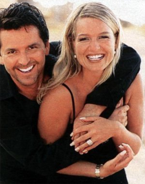 Thomas Anders achtergrond with a portrait called Thomas & Claudia