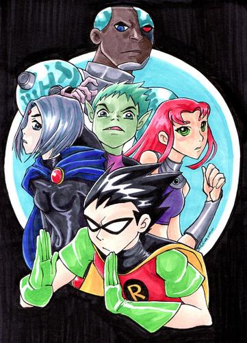 Titans, Robin's hand looks a little wierd tho
