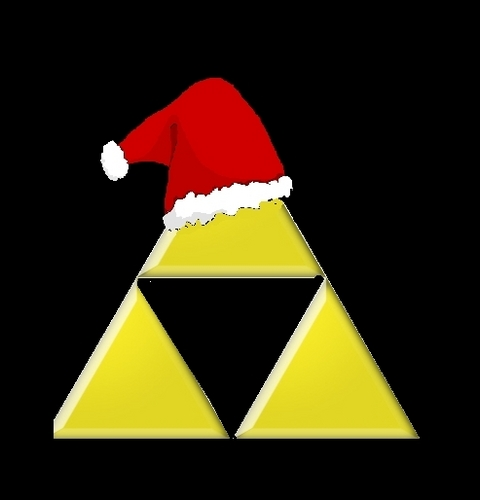 Triforce in santa hat