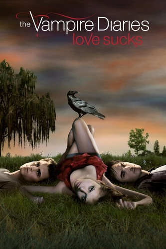 The Vampire Diaries Couples wallpaper probably containing a lippizan and a horse trail entitled Vampire Love
