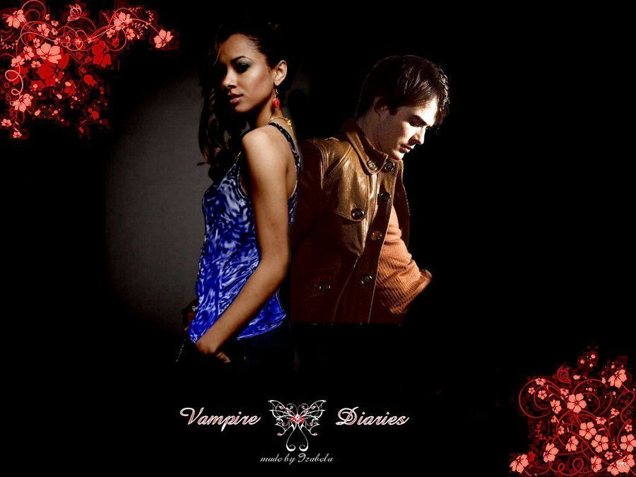 The Vampire Diaries Couples Vampire LoveVampire Love Wallpaper