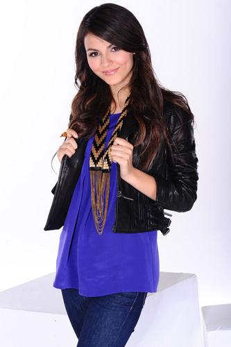 Victoria Justice wallpaper probably containing an overgarment titled Victoria Photoshoot