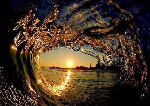 Underwater Fotografia wallpaper with a sunset entitled Wave :)