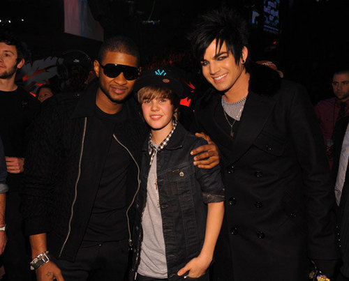 adam at 2009 Z100's Jingle Ball,11 december with Usher and justin