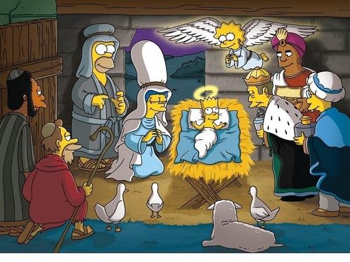 christmas simpsons - the-simpsons Wallpaper