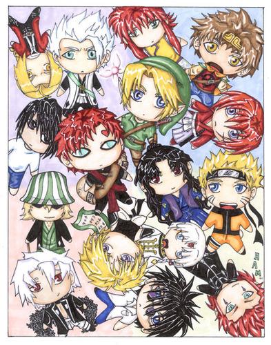 naruto Chibi's! fondo de pantalla with anime titled gaara an naruto can ya spot em