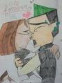 kiss kiss...they're back together!!! - total-drama-island fan art