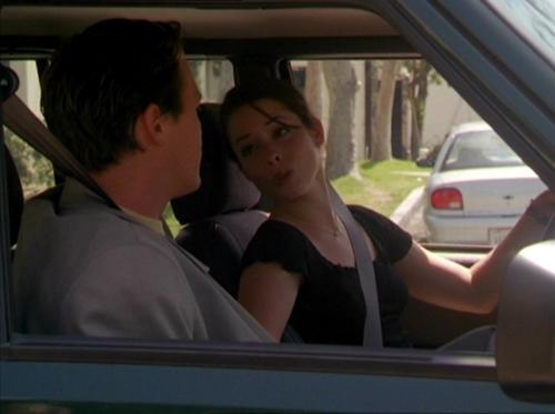 piper and leo in a car
