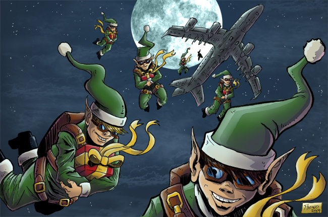 we support the x-mas elves!