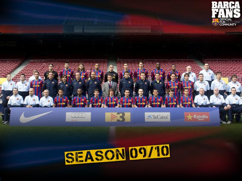 barcelona fc wallpaper 2009. 2009/10 Squad - FC Barcelona