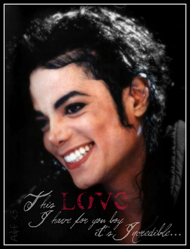 Michael Jackson wallpaper with a portrait entitled A&F <3