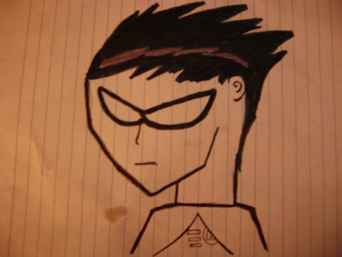 teen titans wallpaper titled A REALLY bad Robin i drew