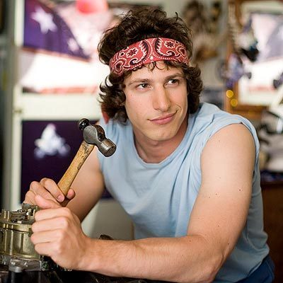 Andy Samberg 壁紙 containing a carpenter's hammer entitled Andy Samberg