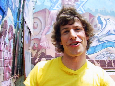 Andy Samberg wallpaper possibly containing a chainlink fence entitled Andy Samberg