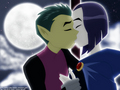 Beast Boy and Raven - teen-titans-couples wallpaper