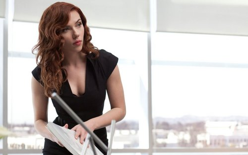 Black Widow (Iron Man 2) Widescreen پیپر وال