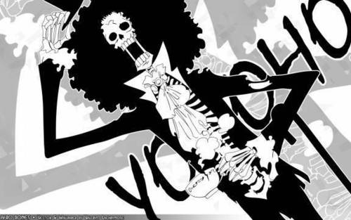 One Piece achtergrond possibly with anime called Brook