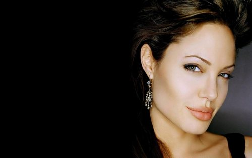 Angelina Jolie wallpaper containing a portrait called Cool angelina!