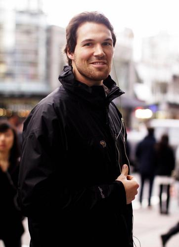 Twilight Series wallpaper probably with an outerwear, an overgarment, and a box coat called Daniel Cudmore