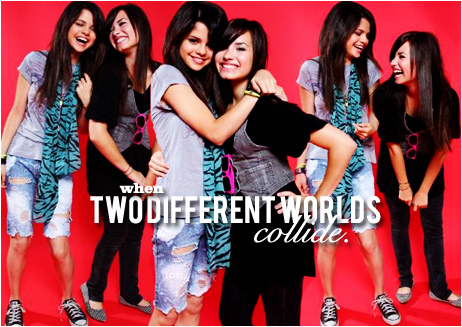 Demi & Selena graphic