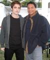 Eclipse Vancouver Set Pic – Robert Pattinson and Gil Birmingham! - twilight-series photo