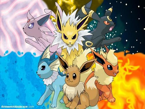 Eevee Evolutions Clan hình nền with anime entitled Eevee evolution #1