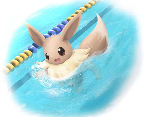 Eevee swimming