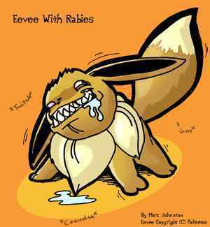 Eevee with rabies!