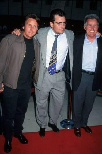 Emilio Estevez,Charlie Sheen,and Martin Sheen