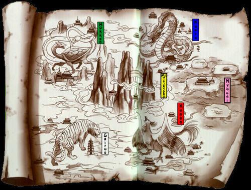 Fushigi Yuugi's world map