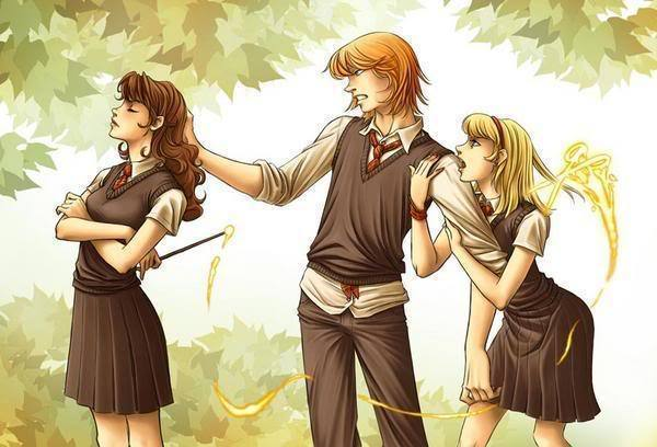 Hermione and Ron Fanart