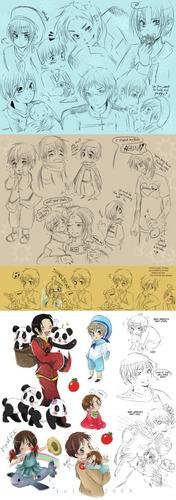 hetalia - axis powers doodles