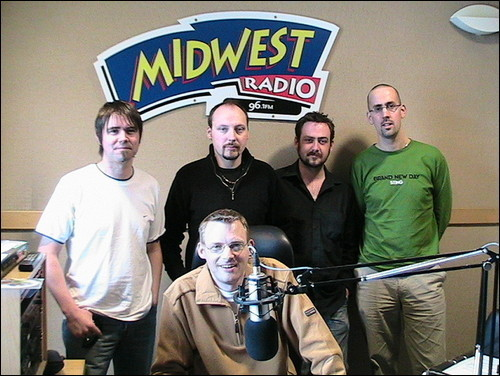 Hipple jalan and Padraic Walsh in Midwest Radio - Ireland - April 2007