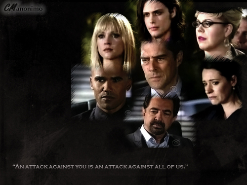 Hotch & Emily 壁纸 with a business suit, a suit, and a dress suit titled Hotch and his team