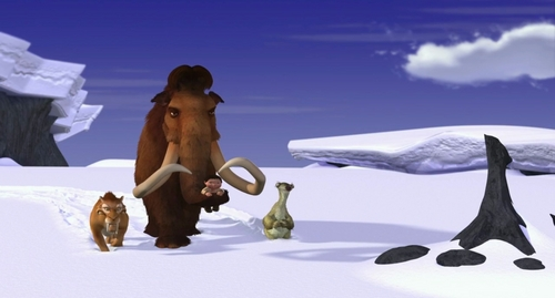 Ice Age Hintergrund possibly containing an igloo and a snowbank titled Ice Age
