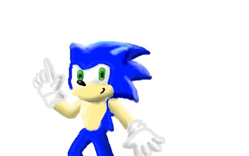 It's Sonic the hedgehog!
