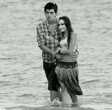 Jemi walking on the ocean