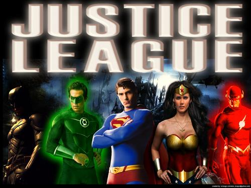 Justice League Hintergrund containing Anime titled Justice League