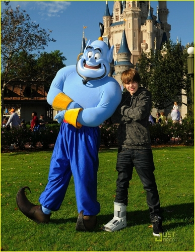 Justin at Disney World