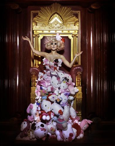 Lady GaGa - Hello Kitty Photoshoots