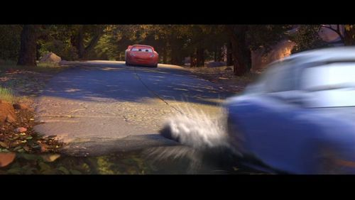 Pixar Couples wallpaper containing a carriageway and a street entitled Lightning McQueen and Sally