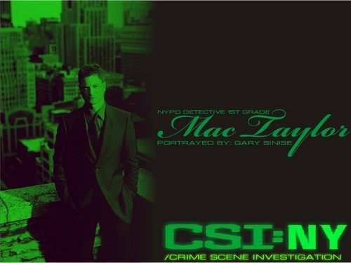 CSI:NY پیپر وال possibly with a business suit, a sign, and a سٹریٹ, گلی titled Mac Taylor-Green