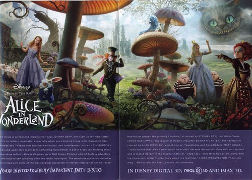 Magazine articolo about alice in wonderland