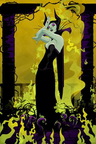 villanos de disney fondo de pantalla with anime called Maleficent
