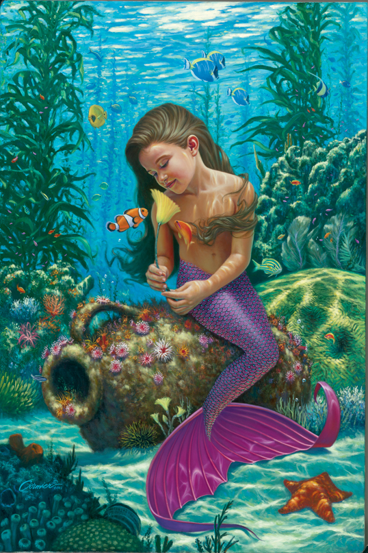 Little Mermaid Painting For Kids