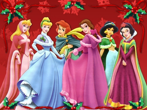 Merry navidad from the disney Princess