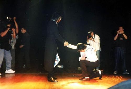 Michael and his impresionator Earnest Valentino