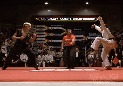 Pictures form the Karate Kid 1,2 and 3