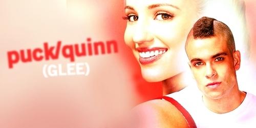 Glee wallpaper containing a portrait called Puck & Quinn